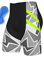 cheap -21Grams Men's Cycling Shorts Spandex Bike Padded Shorts / Chamois Breathable Quick Dry Sports Grey Mountain Bike MTB Road Bike Cycling Clothing Apparel Bike Wear / Athleisure