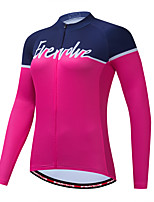 cheap -Women's Long Sleeve Cycling Jersey Blue+Orange Pink Green Bike Jersey Quick Dry Sports Clothing Apparel / Micro-elastic / Athleisure