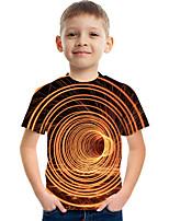 cheap -Kids Boys' Tee Short Sleeve Graphic 3D Children Tops Active Orange