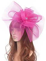 cheap -Flower Style Retro Tulle Fascinators with Floral / Crystals 1 Piece Special Occasion / Party / Evening Headpiece
