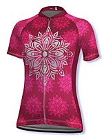 cheap -21Grams Women's Short Sleeve Cycling Jersey Spandex Red Bike Top Mountain Bike MTB Road Bike Cycling Breathable Sports Clothing Apparel / Stretchy / Athleisure
