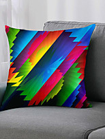 cheap -Double Side 1 Pc Geometric Cushion Cover  Print 45x45cm Linen for Sofa Bedroom
