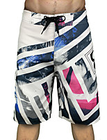 cheap -Men's Swim Shorts Swim Trunks Board Shorts Quick Dry Breathable Drawstring - Swimming Surfing Water Sports Floral / Botanical Summer