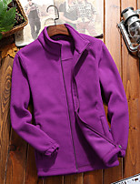 cheap -Women's Hiking Fleece Jacket Winter Outdoor Warm Quick Dry Lightweight Breathable Outerwear Jacket Top Climbing Camping / Hiking / Caving Traveling Black Purple Red Pink