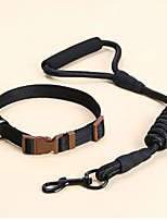 cheap -Dog Pets Training Leash Portable Retractable Nylon Black Red 2pcs