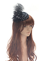 cheap -Elegant Retro Tulle / Feathers Fascinators with Feather / Flower 1 Piece Special Occasion / Party / Evening Headpiece