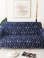 cheap -1 Pc Sofa Cover Geometric Color Blue White Lines  Elastic Living Room Pet Sofa Dust Cover Recliner