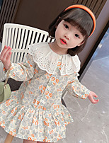 cheap -girls' dresses 2021 spring new children's korean floral lace pastoral doll collar princess dress female treasure children's skirt