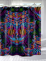 cheap -Colored Little Owl Digital Printing Shower Curtain Shower Curtains  Hooks Modern Polyester New Design