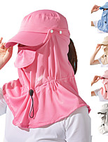 cheap -KORAMAN Women's Fishing Hat Hiking Cap 1 set Outdoor Sunscreen Breathable Sweat wicking Comfortable Solid Color Polyester Blue Pink Grey for Fishing Beach Camping / Hiking / Caving