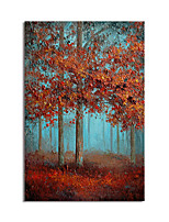 cheap -Oil Painting Hand Painted Vertical Abstract Landscape Modern Stretched Canvas