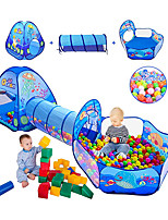 cheap -Play Tent & Tunnel Playhouse Crawl Tunnel Toy Teepee Ocean Theme 3 in 1 Foldable Convenient Polyester Gift Indoor Outdoor Party Favor Festival Fall Spring Summer 3 years+ Boys and Girls Pop Up
