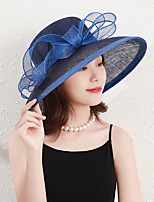 cheap -Elegant Lady Flax Hats with Bowknot / Trim 1 Piece Party / Evening / Casual Headpiece