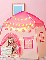 cheap -Play Tent & Tunnel Playhouse Teepee Castle Princess Foldable Glow in the Dark Convenient with Light String Polyester Gift Indoor Outdoor Party Favor Festival Fall Spring Summer 3 years+ Boys and Girls
