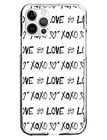cheap -Letter Case For Apple iPhone 12 iPhone 11 iPhone 12 Pro Max Unique Design Protective Case Pattern Back Cover TPU
