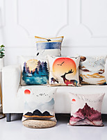 cheap -Double Side 1 Pc Color Block Cushion Cover  Print 45x45cm Linen for Sofa Bedroom