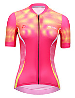 cheap -21Grams Women's Short Sleeve Cycling Jersey Summer Spandex Polyester Rose Red Funny Bike Top Mountain Bike MTB Road Bike Cycling Breathable Reflective Strips Back Pocket Sports Clothing Apparel