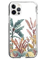 cheap -Floral Botanical Case For Apple iPhone 12 iPhone 11 iPhone 12 Pro Max Unique Design Protective Case Pattern Back Cover TPU