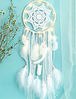 cheap -LED Boho Dream Catcher Handmade Gift Wall Hanging Decor Art Ornament Feather 71*16.5cm for Kids Bedroom Wedding Festival