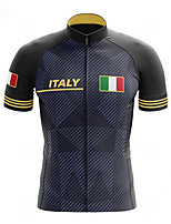 cheap -21Grams Men's Short Sleeve Cycling Jersey Spandex Dark Blue Stripes Bike Top Mountain Bike MTB Road Bike Cycling Breathable Quick Dry Sports Clothing Apparel / Athleisure