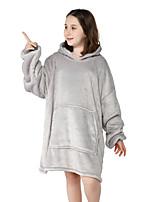 cheap -Kid's Kigurumi Pajamas Anime Onesie Pajamas Flannel Fabric Gray Cosplay For Boys and Girls Animal Sleepwear Cartoon Festival / Holiday Costumes