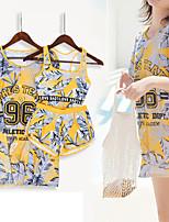 cheap -Women's Rashguard Swimsuit Elastane Swimwear Breathable Quick Dry Short Sleeve Swimming Surfing Water Sports Summer