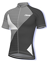 cheap -21Grams Men's Short Sleeve Cycling Jersey Spandex Grey Bike Top Mountain Bike MTB Road Bike Cycling Breathable Quick Dry Sports Clothing Apparel / Athleisure