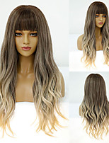 cheap -Synthetic Wig Deep Wave Neat Bang Wig Medium Length A10 A11 A1 A2 A3 Synthetic Hair Women's Cosplay Party Fashion Blonde Brown
