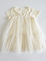 cheap -girls new mesh skirt summer western style baby short-sleeved princess dress 2021 summer skirt children's wear