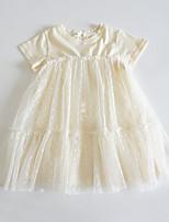 cheap -girls new mesh skirt summer western style baby short-sleeved princess dress 2021 summer skirt children's wear