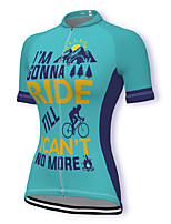 cheap -21Grams Women's Short Sleeve Cycling Jersey Spandex Blue Bike Top Mountain Bike MTB Road Bike Cycling Breathable Sports Clothing Apparel / Stretchy / Athleisure