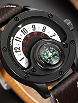 cheap -Oulm Men's Sport Watch Analog Quartz Casual Calendar / date / day / One Year / Genuine Leather
