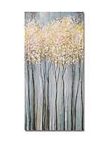 cheap -Oil Painting Hand Painted Vertical Abstract Floral / Botanical Modern Stretched Canvas
