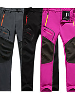 cheap -Women's Hiking Pants Trousers Patchwork Winter Outdoor Regular Fit Fleece Lining Warm Breathable Soft Fleece Pants / Trousers Black Purple Rose Red Fishing Camping / Hiking / Caving Traveling L XL