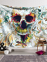 cheap -Wall Tapestry Art Decor Blanket Skull Curtain Hanging Home Bedroom Living Room Decoration and Abstract and Psychedelic