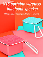 cheap -Oneder V15 Bluetooth Speaker 5w 600mah Abs Fabrics Material V4.2 Portable Tws Loudspeaker Handsfree Function Wireless Speaker