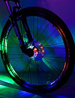 cheap -bicycle hub light, safety waterproof bike wheel lights led cycling spoke rim light for kids adults night riding (colorful, 2 pack)