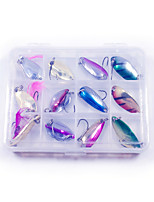 cheap -12 pcs Lure kit Fishing Lures Hard Bait Spoons Bass Trout Pike Lure Fishing