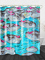 cheap -Scary Face Print Waterproof Fabric Shower Curtain for Bathroom Home Decor Covered Bathtub Curtains Liner Includes with Hooks