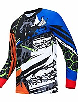 cheap -men's fashion cycling jersey summer bicycle sportswear mtb jersey great gifts long sleeve mountain bike clothes
