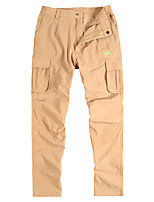 cheap -Men's Hiking Pants Trousers Hiking Cargo Pants Solid Color Summer Outdoor Tailored Fit Waterproof Ultra Light (UL) Antistatic Quick Dry Spandex Pants / Trousers Black Army Green Grey Khaki Hunting