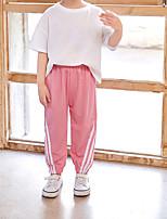 cheap -Kids Girls' Pants Print Streetwear Yellow Blushing Pink Dusty Rose 3-13 Years
