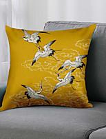 cheap -Double Side 1 Pc Bird Cushion Cover  Print 45x45cm Linen for Sofa Bedroom