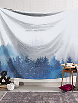 cheap -Wall Tapestry Art Decor Blanket Curtain Hanging Home Bedroom Living Room Decoration Polyester Blue Forest