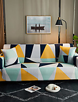 cheap -The Geometric Print Dustproof Stretch Sofa Cover Super Soft Fabric  L Shape Sofa (You will Get 1 Throw Pillow Case as free Gift))