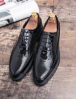 cheap -Men's Oxfords Business Daily Walking Shoes PU Breathable Non-slipping Wear Proof Black Spring