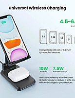 cheap -T6W 2 in 1 Holder Wireless Charger for iPhone 12 Air pods Pro Adjustable Dual 10W Fast Charging Phone Charger Stand Desk Dock Holder For Samsung S21 S20 Plus iPhone 12 Pro 11 XS XR X 8