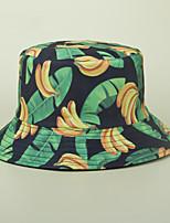 cheap -Men's Women's Fisherman Hat Hiking Cap 1 PCS Winter Outdoor Sunscreen Floral / Botanical Leaf Printing Cotton White Black Yellow for Fishing Beach Camping / Hiking / Caving