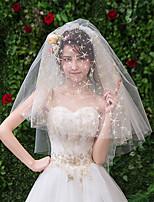 cheap -Four-tier European Style Wedding Veil Elbow Veils with Sequin Tulle