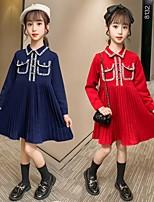 cheap -girls' dresses spring and autumn 2021 new korean style children's skirts autumn long-sleeved children's princess dress wholesale